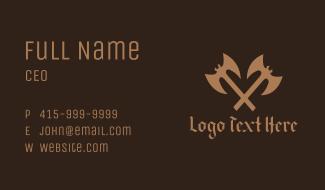 Medieval Battle Axe  Business Card