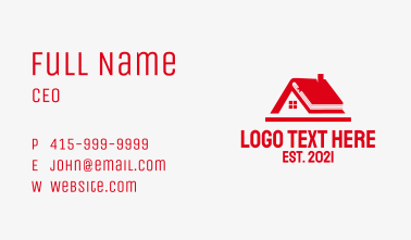 Red Home School  Business Card
