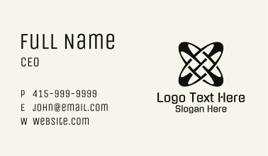Black Abstract Letter X Business Card