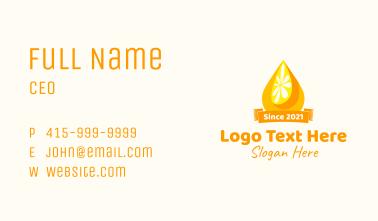 Citrus Pulp Banner  Business Card