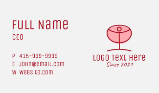 Red Wine Glass Business Card