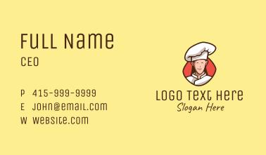 Happy Restaurant Chef Business Card