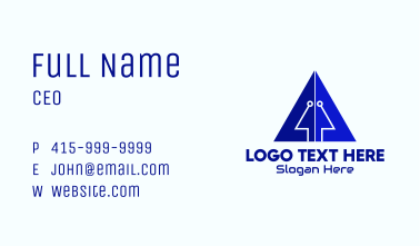 Digital Mouse Pointer Triangle Business Card