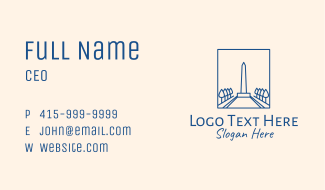 Washington USA Monument Obelisk Business Card