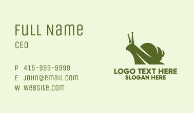 Green Silhouette Snail  Business Card