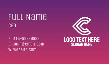 Stroke Letter C Business Card