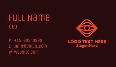 Red Eye Monoline Business Card