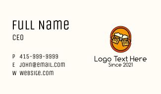 Beer Pub Emblem Business Card