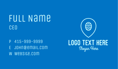 Easter Egg Location Pin  Business Card