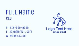 Digital Blue Parrot Business Card