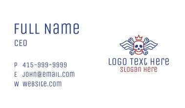 Winged Skull Mechanic Business Card