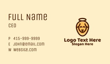 Orange Halo Dog Business Card