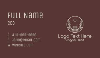 Minimalist Eco Park Business Card