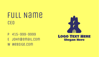 Blue Tower Business Card