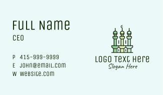Islamic Minaret Temple Business Card