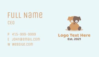 Happy Sitting Dog Business Card