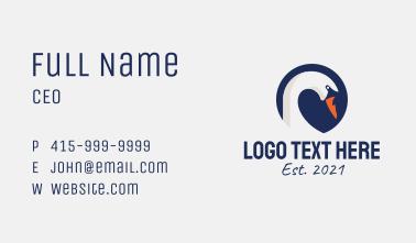 Swan Head Emblem  Business Card