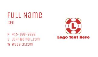 Lifeguard Float Letter Business Card