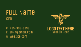Eagle Army Crest Business Card