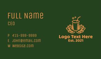 Fresh Orange Juice Drink Business Card