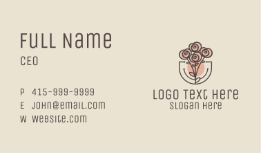 Rose Bouquet Business Card