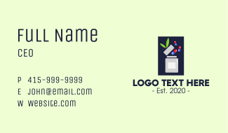 Organic Medical Supplements Business Card