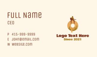 Donut Cafe Musician  Business Card