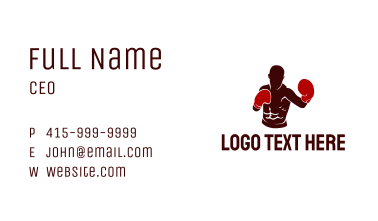 Professional Boxer Athlete Business Card