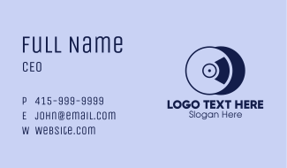 Compact Disc Record Business Card