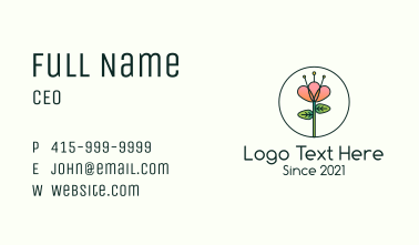 Orchid Flower Plant Business Card
