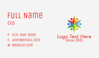 Star Union Charity  Business Card