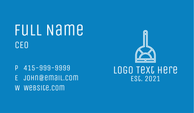White Home Cleaning  Business Card