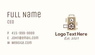Motion Picture Reel  Business Card