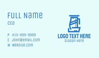 Blue Electric Kettle Business Card