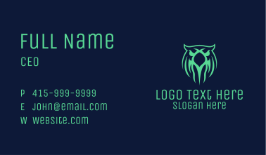 Green Owl Gaming Business Card