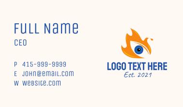 Blazing Fire Eye Business Card