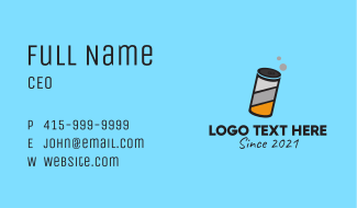 Beer Can Beverage  Business Card