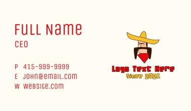Mustache Sombrero Man Business Card