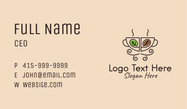 Minimalist Organic Coffee Business Card