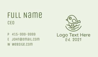 Nature Nest Bird Business Card