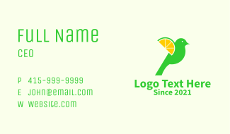 Sparrow Lemon Slice  Business Card