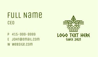 Mayan Mask Pattern  Business Card