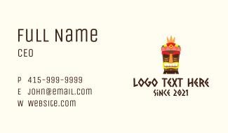 Festive Tribal Tiki Business Card