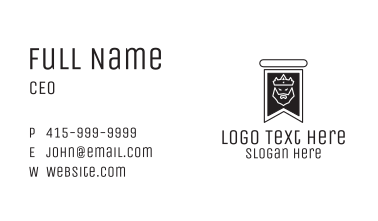 Medieval King Banner Business Card