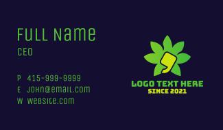 Marijuana Dispensary Quote  Business Card