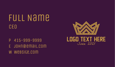 Gold Crown Monarchy  Business Card