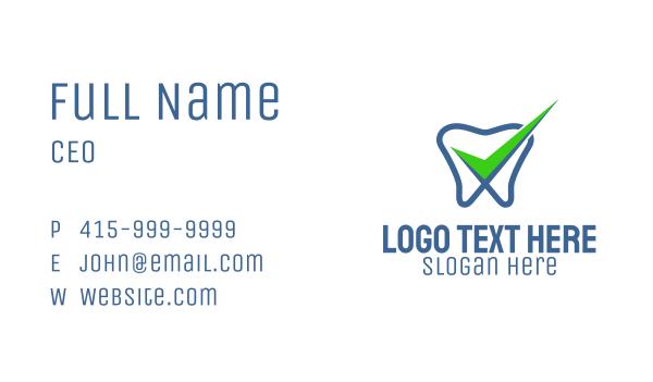 oral - Tooth Dental Check  Business card horizontal design