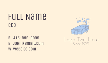 Bedtime Story Book  Business Card