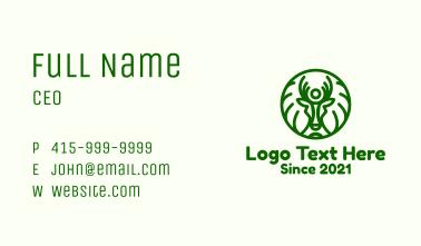 Green Forest Deer Branch Business Card