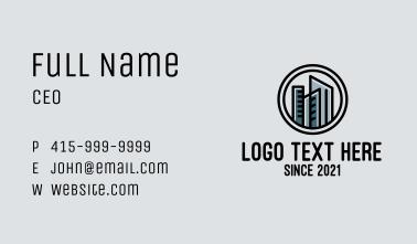 Monochromatic Condo Tower Business Card